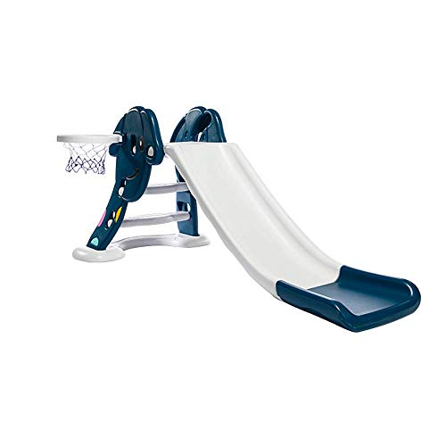 Diapositivas de los niños del bebé Cubierta pequeña Zona de Juegos de Baloncesto Slide Box Toy, Apto for 1-6 niños jueguen en la Sala de Estar, jardín, balcón y Otros Lugares WTZ012
