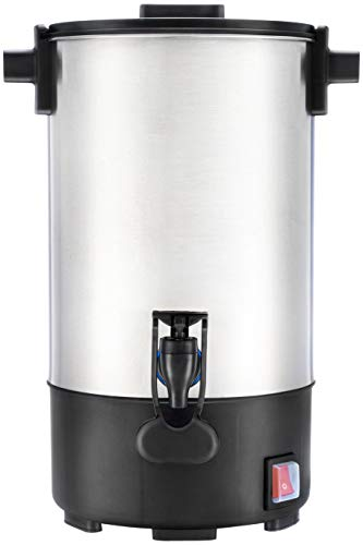 SYBO SR-CP35C Commercial Grade Stainless Steel Percolate Coffee Maker Hot Water Urn 30-Cup Capacity for Catering, 3.5 L, Silver