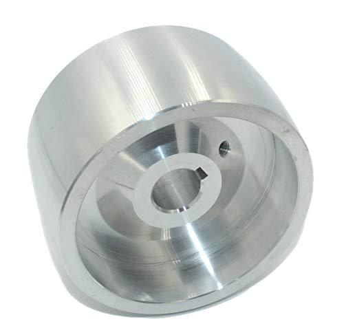 (Drive 100-19) Riemenschleifer-Antriebsrad CNC-bearbeitetes Riemenschleifer-Antriebsrad für Messerschleifer 100 mm Durchmesser - 55 mm breit mit 19 mm Bohrung