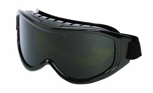 Sellstrom High Temperature Cutting/Grinding, Indirect Vented, Odyssey II Protective Safety Goggle, Shade 5 UV/IR Lens, Black Frame, S80211