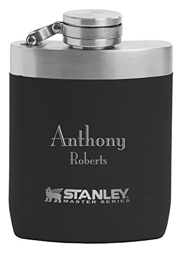 Personalized Stanley Master Series 8 oz. Heavyduty Flask - Free Laser Engraving (Black)