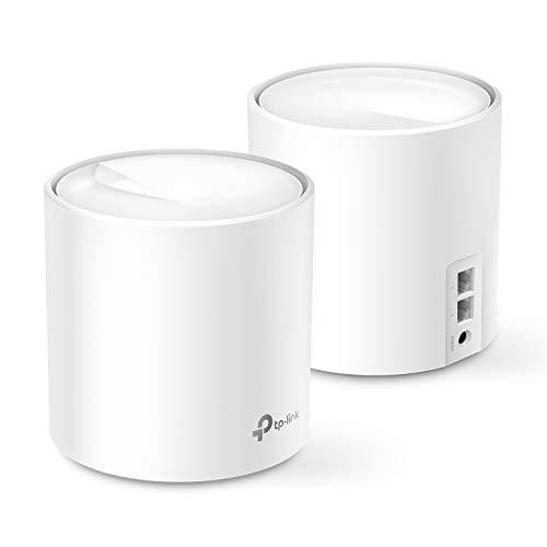TP-Link Deco X60(2-Pack) Sistema Wi-Fi 6 Mesh para Todo tu hogar AX3000, Cubre hasta 5000 pies Cuadrados, Wi-Fi 6 de próxima generación, reemplaza routers y Extensores WiFi, Compatible con Alexa