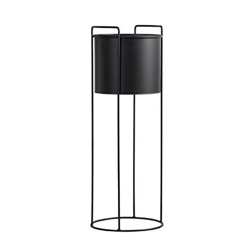 GF Support de Fleurs en Fer forgé pour Pot de Fleurs Noir Style Simple, 27x76cm