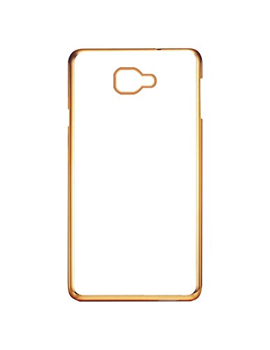 Case Creation 0.3m Super Clear 100% Transparent Soft Gold Finish Silicone Slim Back Case Cover for Samsung Galaxy A3 SM-A310F 2016