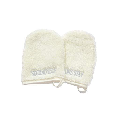 Frcolor 10pcs Gants Microfibre Visage Nettoyants Réutilisable Tampons Maquillage Gant Démaquillant Blanc