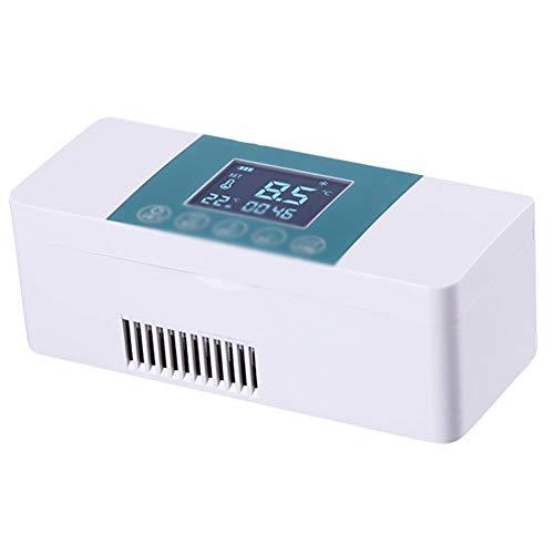 XRX koeler voor isolatie, draagbaar, 2-8 °C, vrieskast met constante temperatuur, koeltas voor koelkast, afmetingen 19,5 × 8 × 7,5 cm