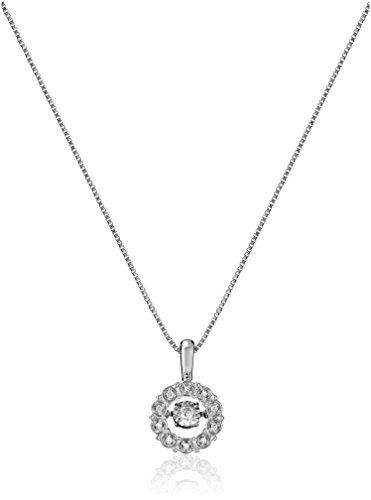 Dancing Diamond Real Diamond Circle Pendant Necklace for Women in...
