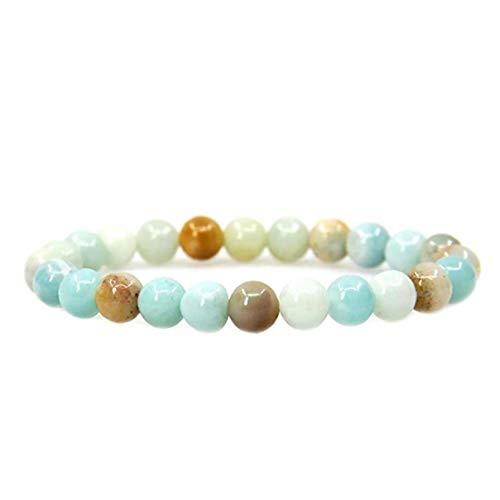 Round Crystal Stone Bracelet Gemstone Beads Strand Jewelry Making Beads Bracelet for Jewelry
