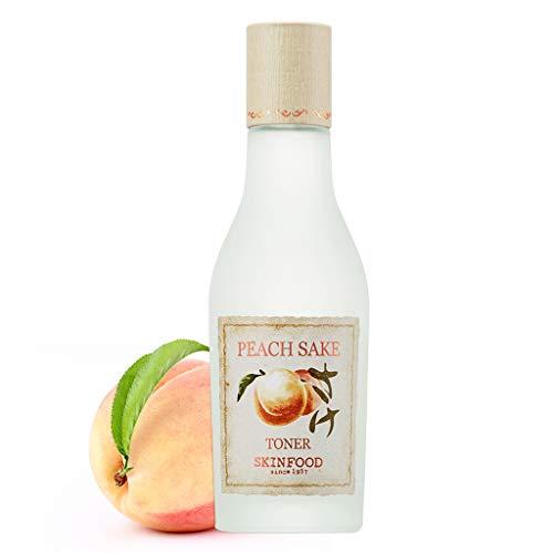 SKINFOOD Peach Sake Toner 135ml (4.56 fl.oz.) - Tighten Pores and Sebum Control Skin Smoothing Facial Toner for Oily Skin
