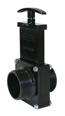 """Valterra 7204 ABS Gate Valve, Black, 2"""" MPT by Valterra Products"""