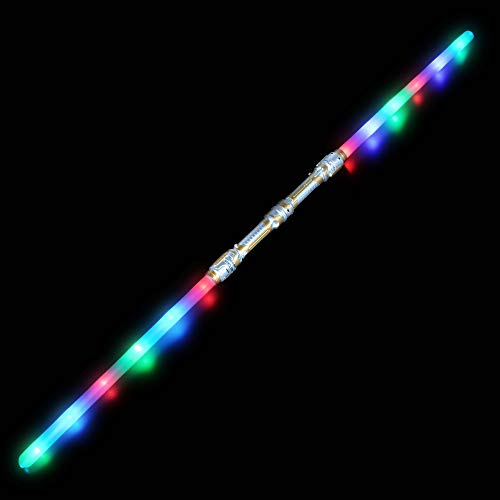 Rhode Island Novelty 52.50 Inch Light-Up Double Blade Sword, One Piece per Order