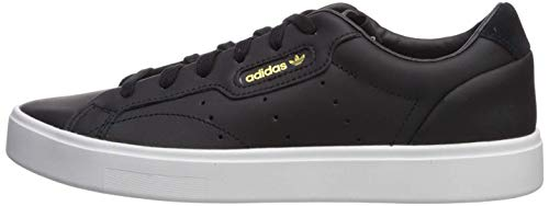 Tênis feminino elegante Adidas Originals, Black/Black/Crystal White, 9