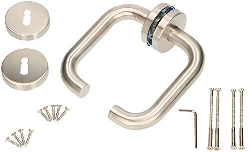 KOTARBAU® Rosettengarnitur 140 mm Edelstahl A BB–Buntbart Universal