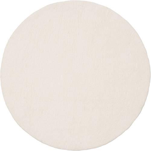 myfelt Linéa Filzteppich — 90cm, rund — Weiß