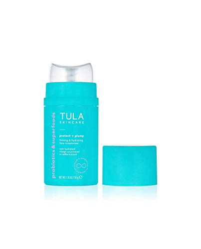 TULA Skin Care Protect + Plump Firming & Hydrating Face Moisturizer   Skincare-First, Daily Ageless Moisturizer, Minizimes the Look of Wrinkles & Fine Lines   1.6 oz.