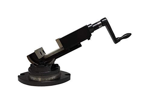 PAULIMOT 2-Achsen Maschinen-Schraubstock 50 mm Backenbreite 360° drehbar