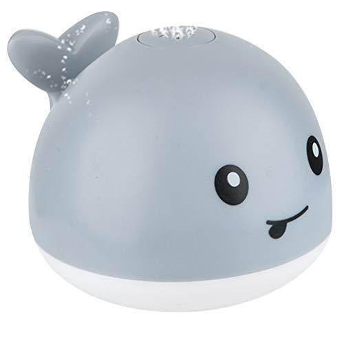 Yardwe Schwimmbad Spielzeug Spray Wasser Spritzen Spielzeug Float Spielzeug Badewanne Dusche Pool Bad Spielzeug ohne Batterie für Baby Kleinkind Kleinkind (Grau)