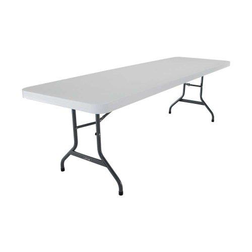 Lifetime 22984 Folding Utility Table, 8 Feet, Almond