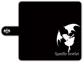 スマートフォン汎用 (5.5インチ以下) 手帳型ケース 【レミリア?スカーレット】 黒/白 018