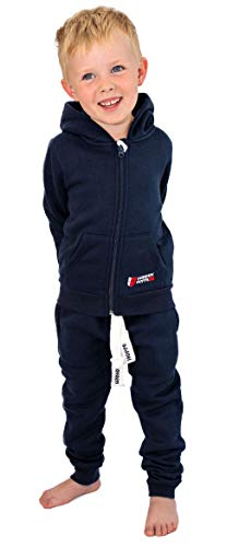 Gennadi Hoppe Kinder Sweat Jogginganzug Sportanzug Trainingsanzug, Navy, 158/164