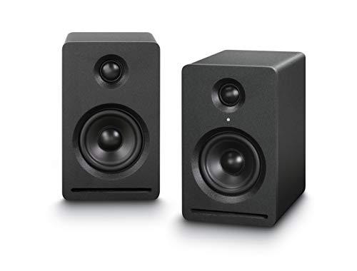 Dynavox Impuls Micro Aktiv-Lautsprecher 2.0, Wireless Streaming von Smartphone, Tablet, PC , Regal-Box mit kompaktem Gehäuse, dynamischer Bass, schwarz