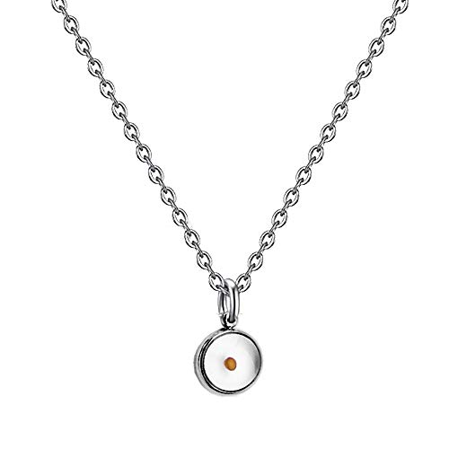 Dainty Mustard Seed Pendant Necklace for Women Girls (necklace)