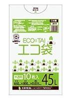ゴミ袋 45L 650x800x0.035厚 半透明 10枚x50冊/箱 LLDPE素材 (半透明, 厚さ0.035㎜)