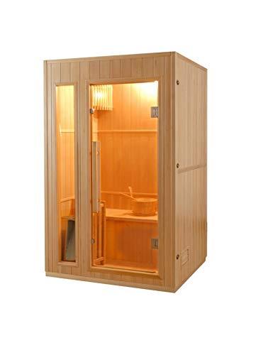 Sauna tradizionale rettangolare 2 posti modello Zen 2 Sined