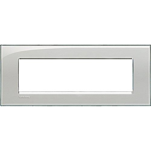 BTicino Livinglight Placca, 7 Moduli, Forma Rettangolare, Ghiaccio