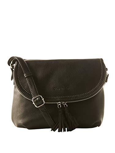 TOM TAILOR Damen Taschen & Geldbörsen Umhängetasche mit Quasten-Detail schwarz/black,OneSize