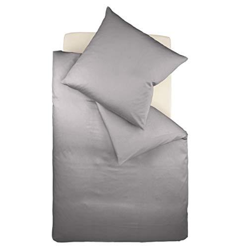 fleuresse Interlock-Jersey-Bettwäsche Colours grau 9021 Größe: 155 x 220 cm