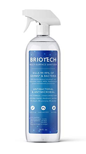 BRIOTECH Multi-Surface Sanitizer | Kills 99.99% of Germs | Multipurpose HOCl Household Cleaner (24oz)