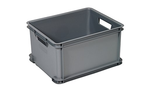 CURVER 6302007CU Unibox Grande Eco Aufbewahrungskiste, klassisch, Kunststoff, Grau, 43x 35x 24cm