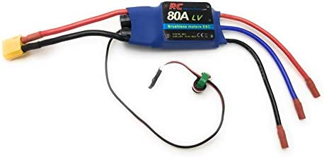80A RC Electric Speed Controller ESC for Brushless Motors 5 5v 4A UBEC with XT60 3 5mm Bullet product image