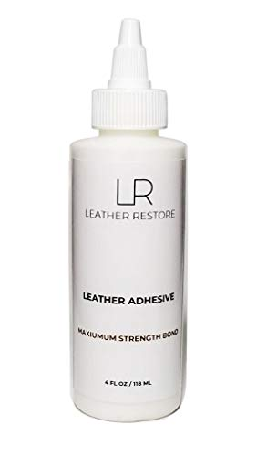 Leather Restore Leather Glue Adhesive - Maximum Strength Bonding - Repair Leather Couch, Furniture, Car Seats, Jacket, Shoes, Fabric and Vinyl 4 oz.