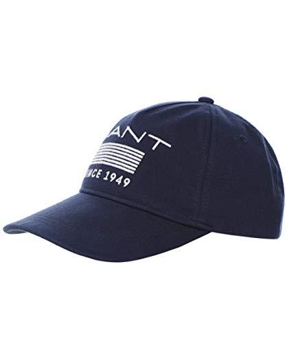 GANT Herren Jersey-Streifen-Mütze Marine EIN Größe