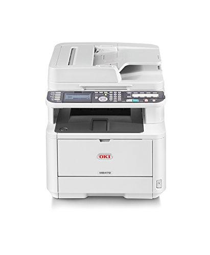 OKI MB472dnw A4-Schwarzweiß-4-in-1-Multifunktionsdrucker (Farbscanner, RADF, Duplex, Netzwerk, WLAN)
