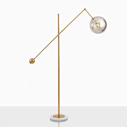 JIAWEI Vloerlamp - Woonkamer Lezen Lamp Slaapkamer Verlichting - Gegalvaniseerd Lichaam + Marmeren Basis