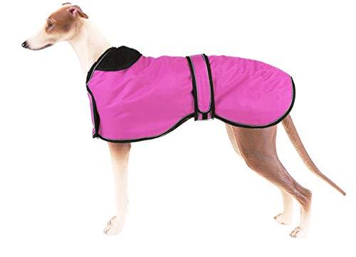 Giacca impermeabile per cani, cappotto invernale per cani con fodera in pile caldo, abbigliamento per cani da esterni, con fasce regolabili, per cani di taglia media, taglia L, rosa