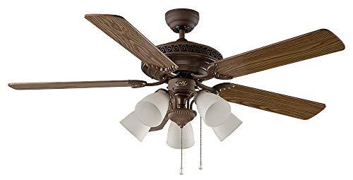 Ventilador de techo con luz CasaFan 513233 CENTURION 132 color madera
