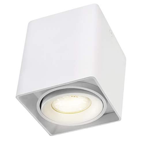 Budbuddy LED Spot light Faretti da soffitto Faretto Lampada plafoniera faretto Lampade da soffitto Faretto Orientabili Faretti da muro Presa GU10 230V [5W lampadina inclusa]Aluminium