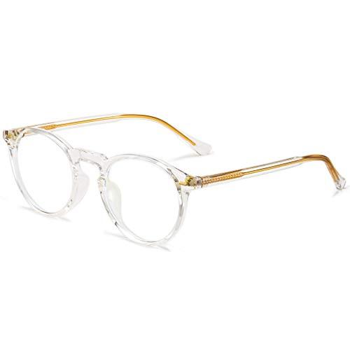 ANRRI Blue Light Blocking Glasses Clear Round Anti Eyestrain Computer Gaming Eyewear