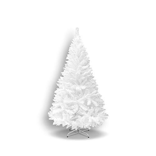 Strong Camel 5 ft Artificial Christmas Tree White Xmas Spruce Tree w/Metal Christmas Tree Stand (5 ft)