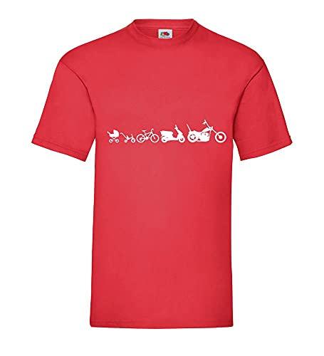 Shirt84.de Evolution Chopper - Camiseta para hombre, rojo, XXL