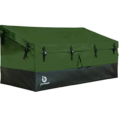 YardStash Outdoor Storage Deck Box XL: Easy Assembly Portable Versatile 150 Gallon 20 Cubic Feet Green