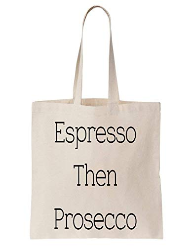 KRISSY Espresso Then Prosecco Coffee Time Break Cool Girl Schultertasche Tote Bag