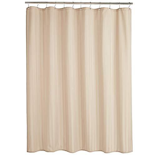 Amazon Basics – Polyester-Duschvorhang Damast, Leinen, 183 x 183 cm