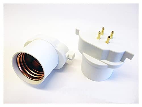 YSJJAXR Soporte de lámpara 2pcs gy10q a Adaptador de Base de lámpara E26 / E27, Base de lámpara de 4P CFL GY10Q a LED E26 Adaptador de Enchufe de luz Need Bypass Ballast
