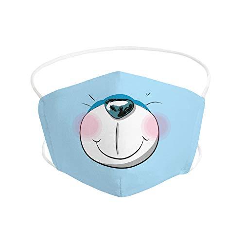 Pekebaby Mascarilla Infantil de tela lavable reutilizable 2 capas + bolsillo con 1 filtro incluido, diseño 011 OSEZNO, doble ajuste elástico