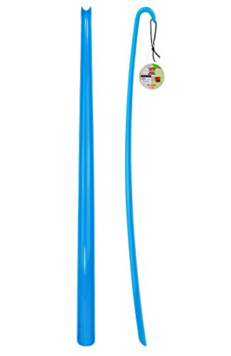 ASIS nettrade schoenlepel - schoenlepel - XXL - blauw - 2 stuks - van hoogwaardig kunststof - extra lang - 77 cm